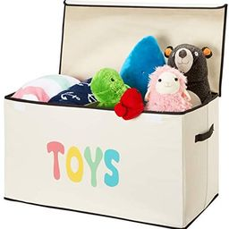 Woffit Kids Toy Box - Extra Large, Lightweight, Collapsible Storage Chest with Flip-Top Lid and H... | Amazon (US)