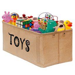 "Gimars Basket Storage 22"" Large Jute Bin Toy Chest Organizer with Handles for Nursery, Playroom, ... | Walmart (US)"