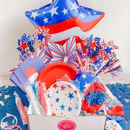 4th of July Party Box - Complete Party Kit with Tableware, Balloons, Decor, Activities, Games, Su... | Etsy (US)