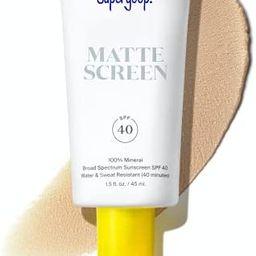 Supergoop! Mattescreen - 1.5 fl oz - 100% Mineral Broad Spectrum SPF 40 Sunscreen - Reef-Safe For...   Amazon (US)