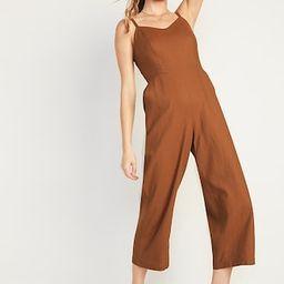 Linen-Blend V-Neck Cami Jumspsuit for Women | Old Navy (US)