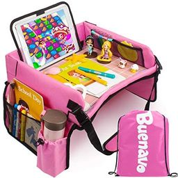 [New Version] Car Seat Organizer Kids Travel Tray for Kids Toddlers Activities in Car Seat, Strol... | Amazon (US)