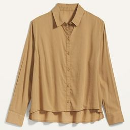 Oversized Cropped Swing Shirt for Women | Old Navy (US)
