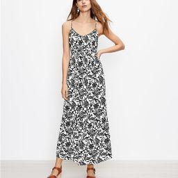 Vine Tie Back Strappy Maxi Dress   LOFT   LOFT