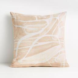 "Alentsie 20"" Cream Cotton Pillow Cover + Reviews | Crate and Barrel | Crate & Barrel"