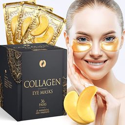 Collagen Under Eye Patches (36 pairs), 24K Gold Under Eye Patches (Reduce Bags and Puffiness), Da... | Amazon (US)