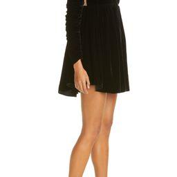 Ann Ruched Puff Sleeve Velvet Minidress | Nordstrom