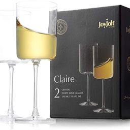 JoyJolt White Wine Glasses – Claire Collection 11.4 Ounce Wine Glasses Set of 2 – Deluxe Crys...   Amazon (US)
