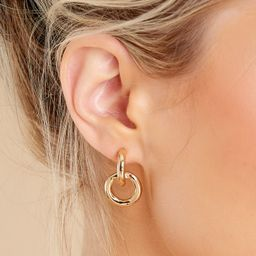 Bound With Love Gold Stud Earrings | Red Dress