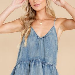 Throw It Together Light Wash Chambray Top | Red Dress