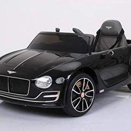 Licensed Bentley Kids Ride on Car w/MP3, USB, LED Lights, 2 Speeds, Remote Control (Black)   Amazon (US)