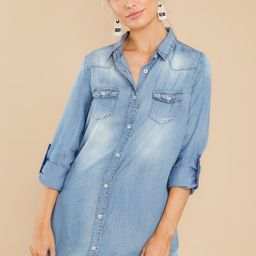 Catch Me Later Chambray Dress | Red Dress
