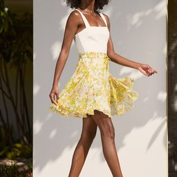 Bloom Service White Floral Print Tiered Mini Skirt | Lulus (US)