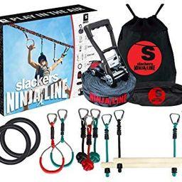 Slackers Ninjaline - 56' Intro Kit - Includes 9 Hanging Attachments - Best Outdoor Ninja Warrior ... | Amazon (US)