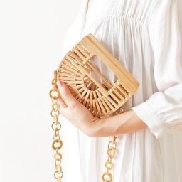 Retro hollow bag/handmade bamboo half-moon bag/retro hollow | Etsy | Etsy (US)
