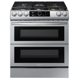 6.3 cu ft. Smart Slide-in Gas Range with Flex Duo™, Smart Dial & Air Fry in Stainless Steel | Samsung