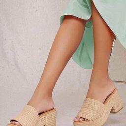 Espadrille Platform Block Heel Sandals | SHEIN