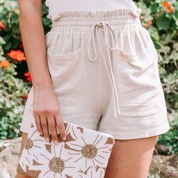 Sandbar Linen Shorts   Amaryllis Apparel