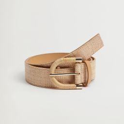 Raffia belt | MANGO (US)