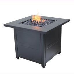 Endless Summer Black Tile Mantle Liquid Propane Outdoor Fire Table | Walmart (US)