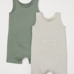 2-pack Sleeveless Romper Suits   H&M (US)
