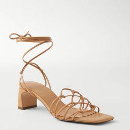 Jasmine Knotted Strappy Kitten Heel Sandals | Ann Taylor | Ann Taylor (US)
