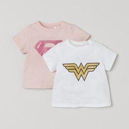 2-pack Printed T-shirts   H&M (US)
