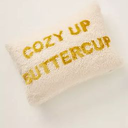 Cozy Up Buttercup Pillow | Anthropologie (US)