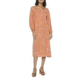 a.n.a 3/4 Sleeve Smocked Midi Peasant Dress | JCPenney