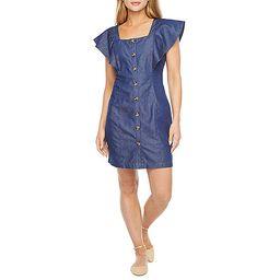 a.n.a Short Sleeve Sheath Dress | JCPenney