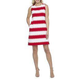Liz Claiborne Sleeveless Striped A-Line Dress | JCPenney