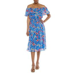 Studio 1 Off The Shoulder Floral Midi Fit & Flare Dress | JCPenney