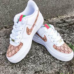 Nike Air Force 1 Custom Gucci Designe | Etsy (US)
