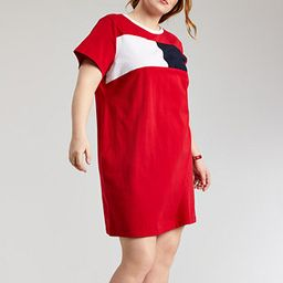 Plus Size Colorblocked T-Shirt Dress | Macys (US)