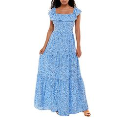 Premier Amour Short Sleeve Floral Maxi Dress | JCPenney