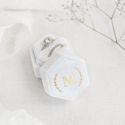 Personalized Velvet Ring Box - Hexagon Double Ring Box - Ring Bearer - Engagement Ring box - Wedd... | Etsy (US)