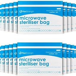 Premium Microwave Sterilizer Bags (10pcs) by Max Strength, Large & Durable Steam Bags for Baby Bo...   Amazon (US)