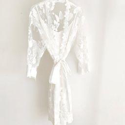 Bridal Lace Robe | Bachelorette Gift | Bridal Party Robe | Bridal Party Gift | Destination Beach ... | Etsy (US)