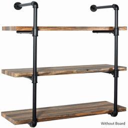 "(8""/12"" Deep ,2-4 Tier),Industrial Iron Pipe Shelf Wall Ceiling Mount Shelves Shelving Bracket Vi...   Walmart (US)"