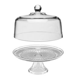 Mainstays Clear Glass Cake Set, 13-inch Cake Plate on Stand and 11.5-inch Dome.   Walmart (US)