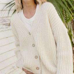 Alpaca Cocoon Cardigan - Ivory | Jenni Kayne | Jenni Kayne