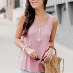 Courageous Soul Mauve Ribbed Tank   The Pink Lily Boutique