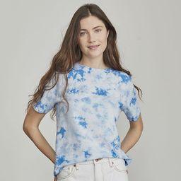Petite Elizabeth and James Tie-Dye Short Sleeve Tee, Women's, Size: Small Petite, Blue   Kohl's