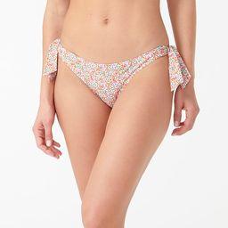 Side-tie lowrider bikini bottom in Liberty® Eloise floral | J.Crew US