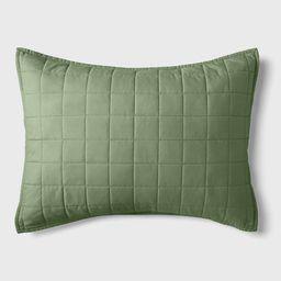 Box Stitch Microfiber Sham - Pillowfort™   Target