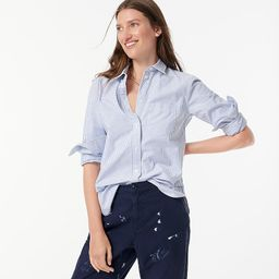 Classic-fit oxford cotton shirt in stripe | J.Crew US