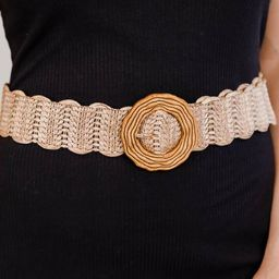 Our Separate Ways Rattan Tan Belt | The Pink Lily Boutique