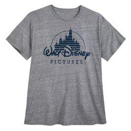Walt Disney Pictures Logo T-Shirt for Men – Gray – Extended Size   shopDisney