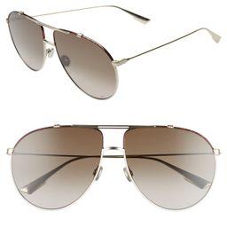 Dior | Christian Dior Monsieur 63mm Oversize Aviator Sunglasses | Nordstrom Rack | Nordstrom Rack