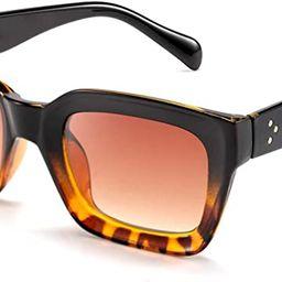 FEISEDY Classic Women Sunglasses Fashion Thick Square Frame UV400 B2471 | Amazon (US)